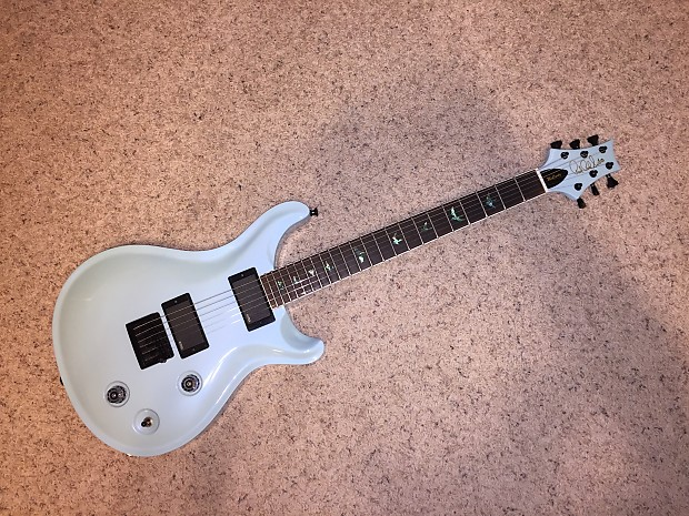 Custom Built PRS Style Guitar EMGs Schaller Bridge Hipshot Tuners Beautiful  Robin's Egg Blue Pearl