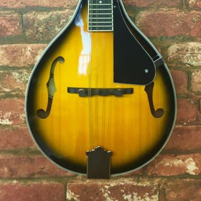Gear4music 'A' Style Bluegrass 8-String Mandolin, Spruce Top, Vintage Sunburst for sale