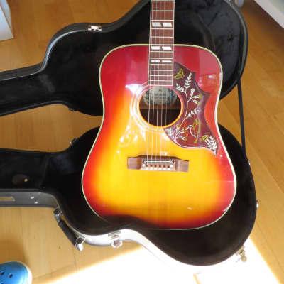 Rarirität in sehr gutem Zustand: Gibson Hummingbird Kopie von Pearl, Japan 1970er for sale