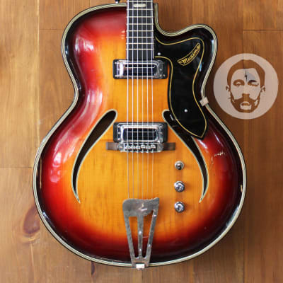 Musima Record 17 Hollowbody - 1970s - Sunburst - Made in East Germany! Free Shipping! for sale