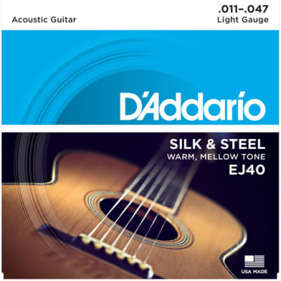 D`Addario EJ40 Light Silk & Steel Acoustic Guitar Strings