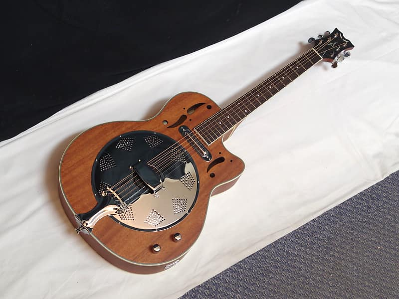 dean round neck electric cutaway resonator guitar new reverb. Black Bedroom Furniture Sets. Home Design Ideas