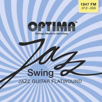 Optima Chrome Flatwound Jazz Swing Electric 12-56