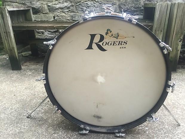 rogers fullerton powertone butcher block 4 piece drum kit reverb. Black Bedroom Furniture Sets. Home Design Ideas