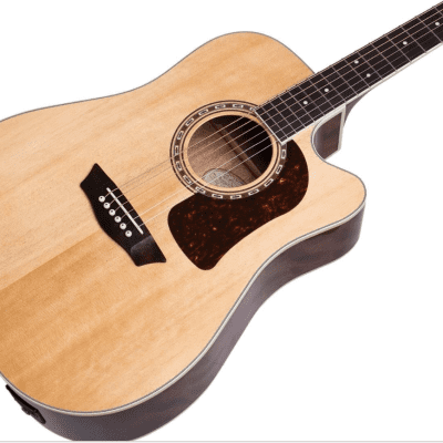 Washburn HD10SCE Heritage Series Dreadnought Cutaway Solid Spruce 6-String  Acoustic-Electric Guitar