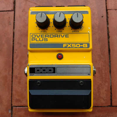 DOD Overdrive Plus FX50B FX 50B 1987 Yellow for sale