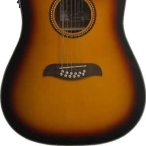 Oscar Schmidt OD312CETS Tobacco Sunburst Acoustic Electric 12 string Guitar -NEW