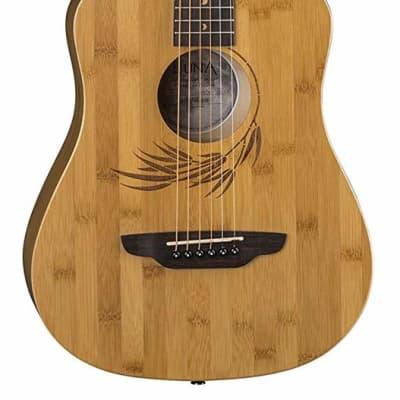 Luna SAF BAMBOO Safari TraveGuitar Safari Bamboo Travel Guitar w/Gigbag