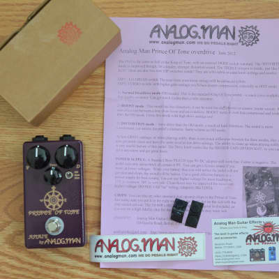 Analogman Prince Of Tone w/ Box & Swag 2016 Purple for sale