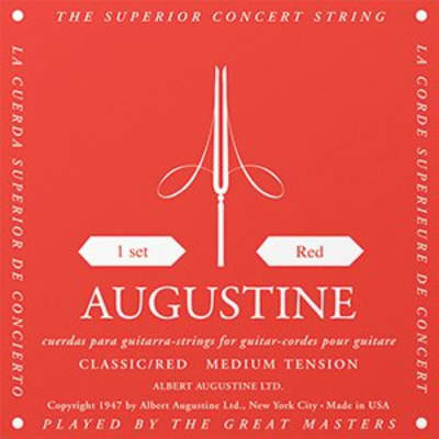 Augustine Red Classical String Set, Medium Tension