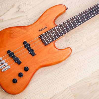 Novax J-Bass 4 w/ Fanned Frets, Bartolini Pickups, Natural Finish for sale
