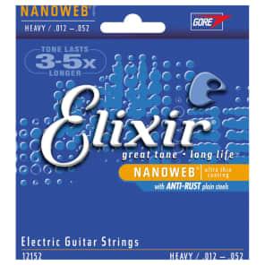 Elixir 12152 Nanoweb Nickel Plated Steel Electric Guitar Strings - Heavy (12-52)