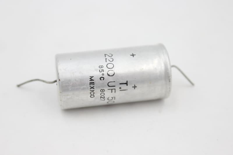 Guitar / Bass Amplifier Axial Capacitor Cap 2200UF 50V Mexico