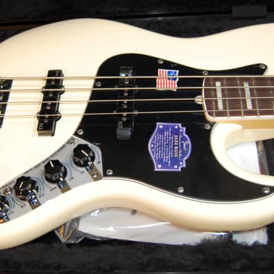 NOS Fender American Deluxe Jazz Bass 2013 Olympic White New Old Stock Authorized Dealer for sale