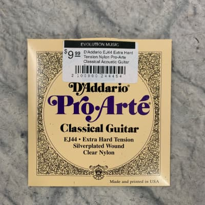D'Addario EJ44 Extra Hard Tension Nylon Pro-Arte Classical Acoustic Guitar Strings