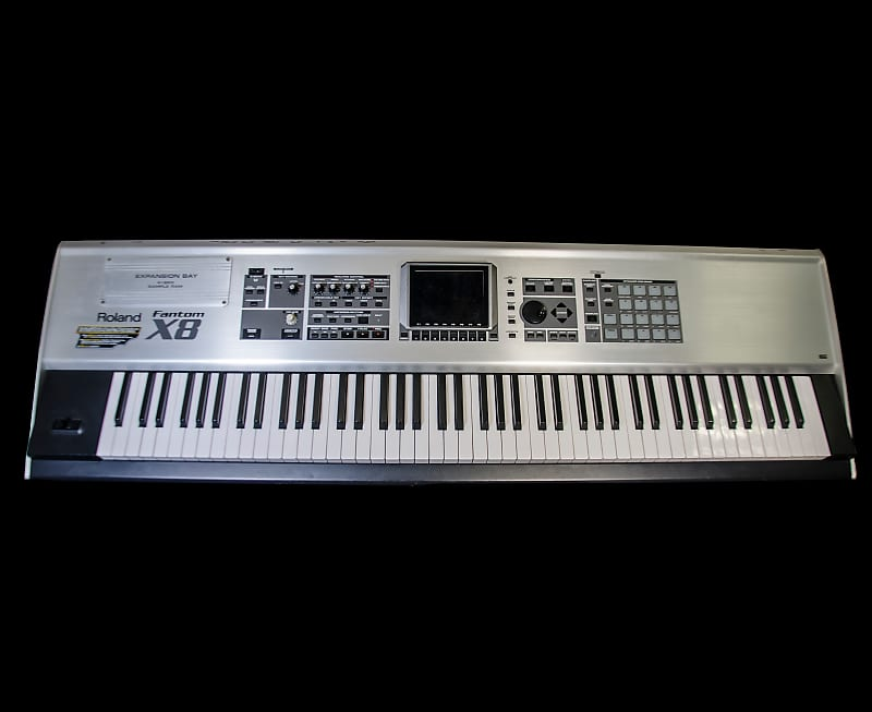 roland fantom x8 fully weighted 88 key workstation keyboard reverb. Black Bedroom Furniture Sets. Home Design Ideas