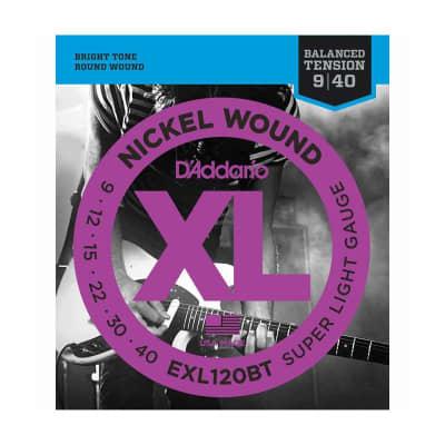 D´Addario EXL120BT 09-40 Balanced Nickel Wound Electric Strings.