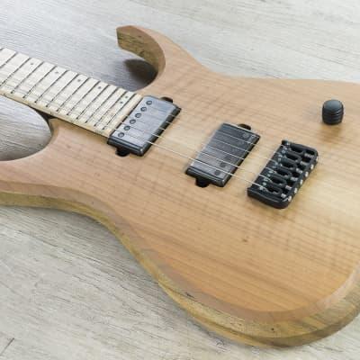 Skervesen Raptor 6 Electric Guitar Figured Walnut Top Black Limba Body Natural for sale