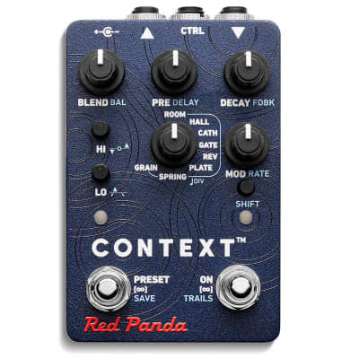 Red Panda Context 2 Reverb Guitar Effects Pedal - 364898 - 665760908463