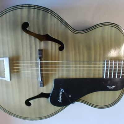 Harmony H 1214 Archtone Mid 1950's  faux flame  Original Case for sale