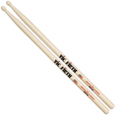Vic Firth CM 1-Pair American Classic® Metal Wood Tip Hickory Drumsticks
