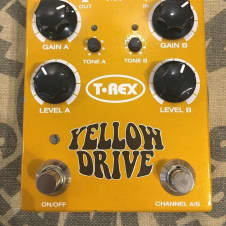 Used T-Rex Yellow Drive Distortion Pedal Guitar Effect Stompbox