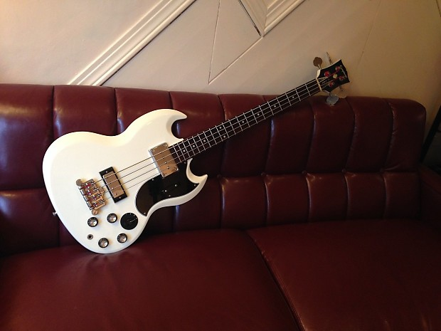 rare 2001 gibson epiphone eb 3 sg bass white w varitone reverb. Black Bedroom Furniture Sets. Home Design Ideas