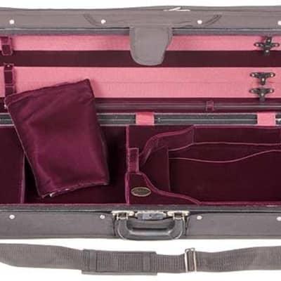 Bobelock 1003 Featherlite Oblong Suspension Violin Case, Grey, Velour