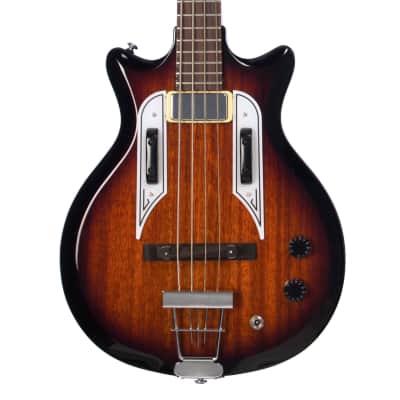 Airline Guitars Pocket Bass - Sunburst - Vintage Reissue electric bass guitar - NEW!