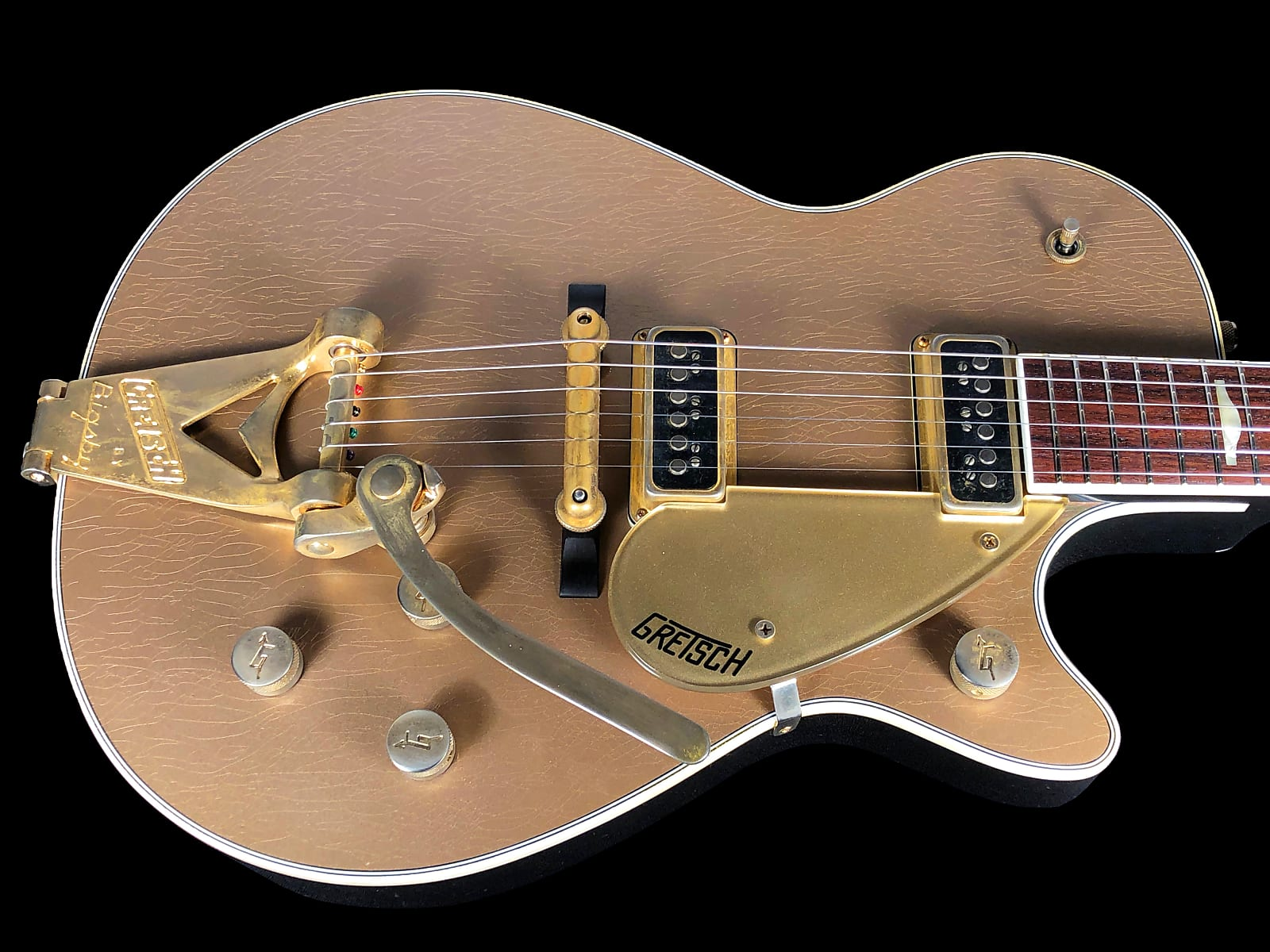 2018 Gretsch G6128-CS Masterbuilt Custom Shop 1957 Duo Jet Relic ~ Shoreline Gold