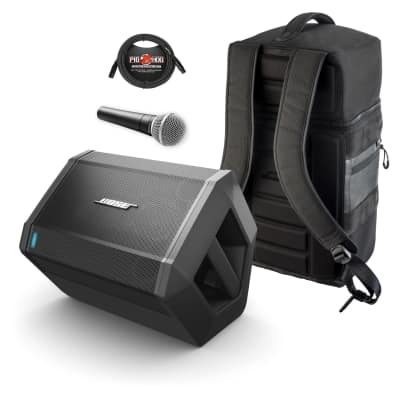 Bose S1 Pro Multi-Position PA System w/ Backpack, Shure SM58 Mic & XLR Cable
