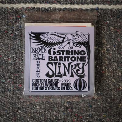 Ernie Ball Baritone Slinky Electric Guitar Strings 13-72
