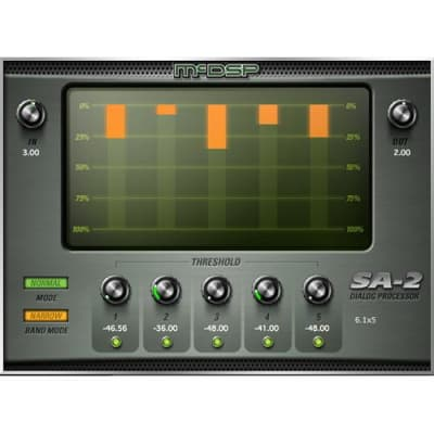 McDSP SA-2 Dialog Processor - Recorded Voice Enhancement Plug-In HD Software - (Download/Activation Card)