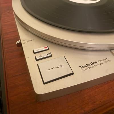 Technics  Sp- 25 custom 1977 Wood Turntable Dj Broadcast Transcription . shure gold cartridge