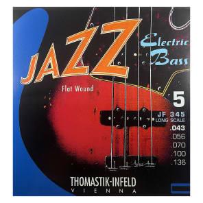 Thomastik-InfeldJF345 Jazz Flat Wound Nickel Roundcore Bass Strings - Medium (.43 - .118)