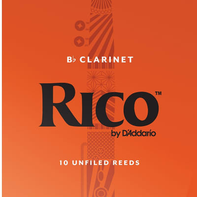 Rico Soprano Clarinet Reeds Strength 2-1/2, Box of 10