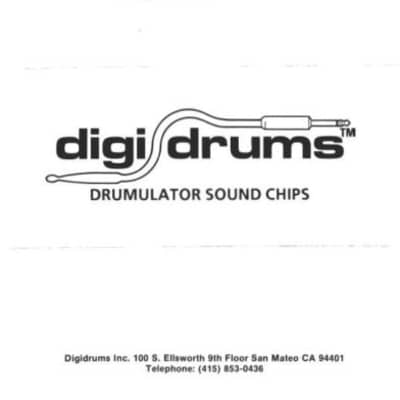 EMU Drumulator Rare Digidrums Rock Kit Eprom Set For 8-Bit Digital Drum Machine