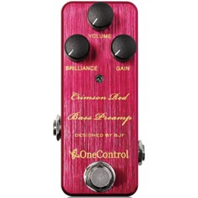One Control BJF Series Crimson Red Bass Preamp Pedal for sale