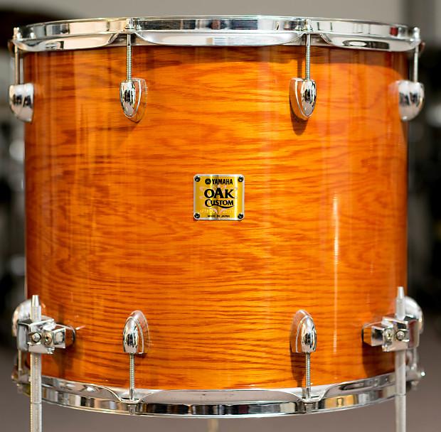 yamaha oak custom 16x14 york honey amber floor tom reverb. Black Bedroom Furniture Sets. Home Design Ideas