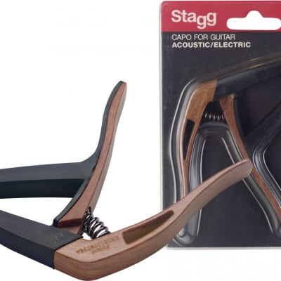 Curved trigger capo for acoustic or electric guitar for sale