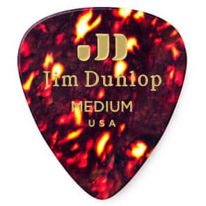 Dunlop 483R05MD Celluloid Standard Classics Medium Guitar Picks (72-Pack)