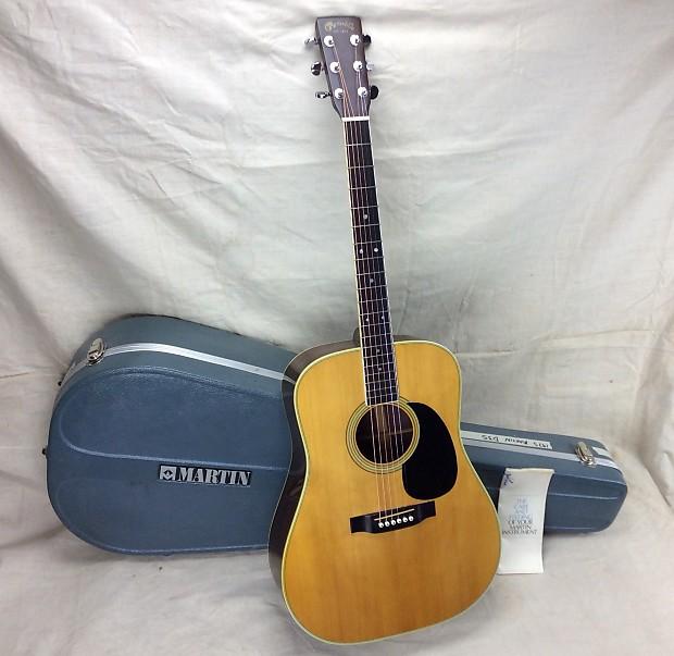 Vintage 1975 Martin D 35 Acoustic Guitar With Original Case Reverb