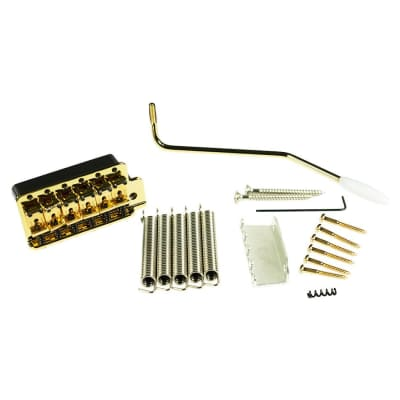Kluson KVTSG Vintage Steel Block Tremolo Bridge Gold for sale