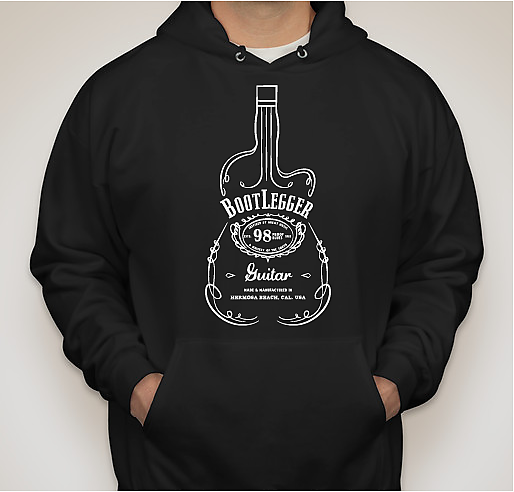 Bootlegger Guitar 98 Proof Hoodie 2018 Black