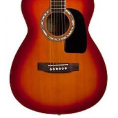 Aria AF-15 Folk Body Acoustic Guitar in Cherry Sunburst for sale