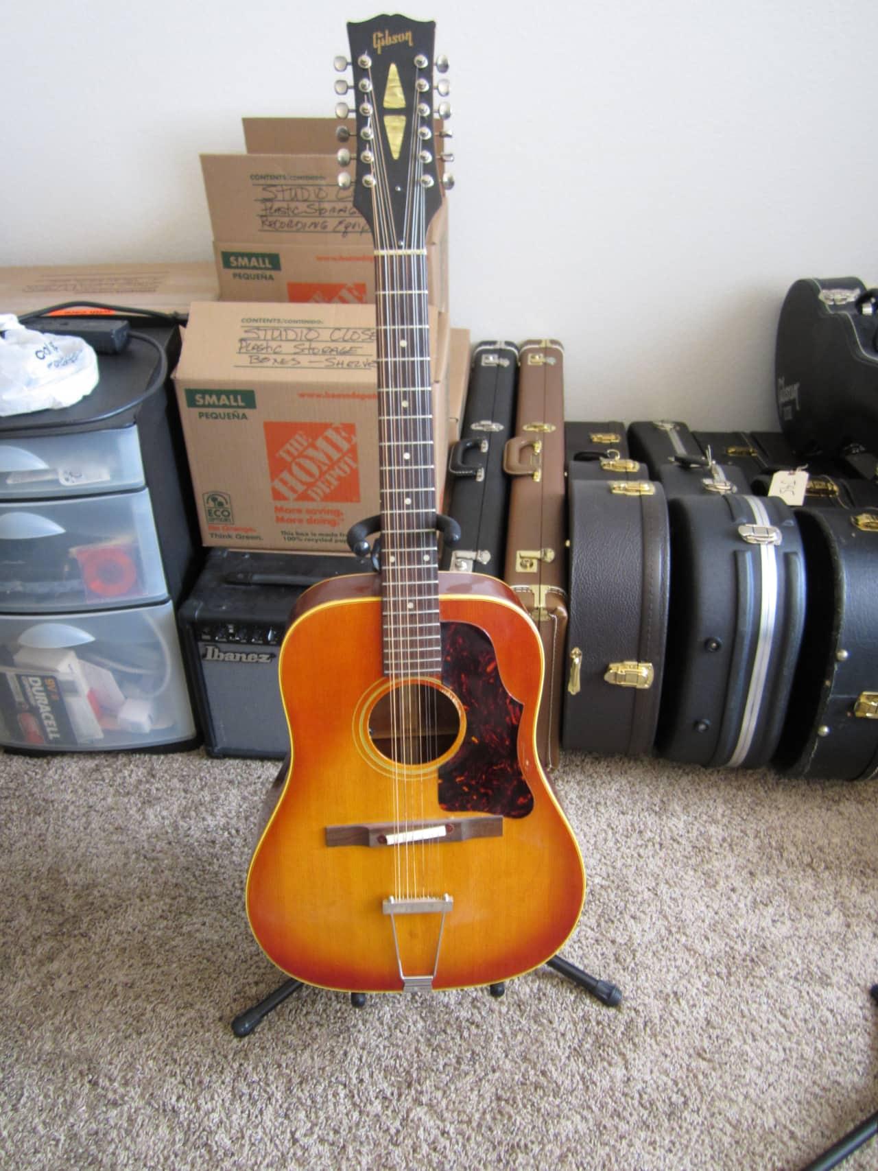 gibson vintage 12 string acoustic guitar serial 362783 1968 reverb. Black Bedroom Furniture Sets. Home Design Ideas