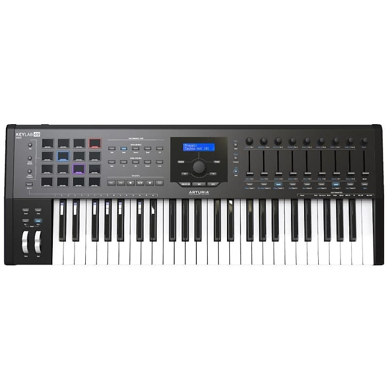 arturia keylab mkii 49 keyboard controller black featuring reverb. Black Bedroom Furniture Sets. Home Design Ideas