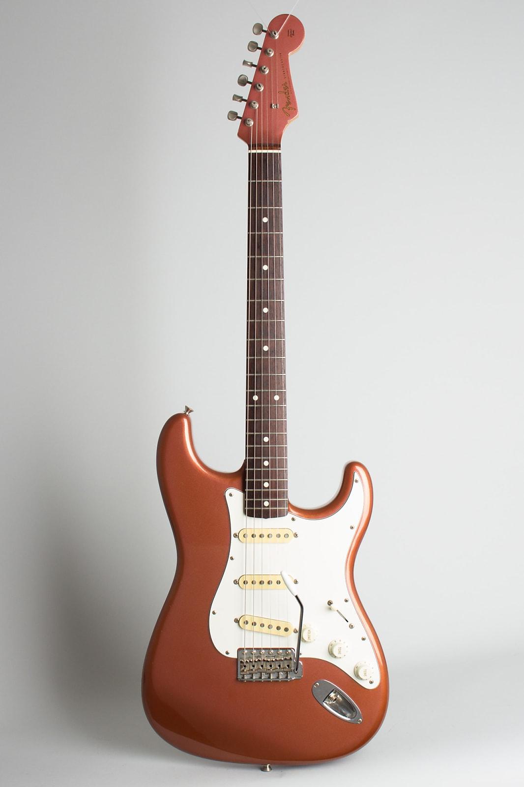 Fender  Stratocaster Solid Body Electric Guitar (1989), ser. #J037518, black gig bag case.