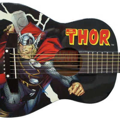Peavey Marvel Avengers Thor Graphic 1/2 Size Acoustic Guitar Signed by Stan Lee with Certificate of Authenticity (Serial  ARBCF101911)