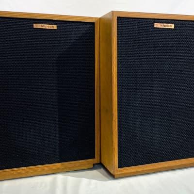 Klipsch Heresy HBR Loudspeaker Pair (x2) 1979 Oiled Birch w/ Stands